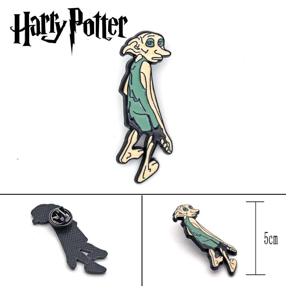 Wellcomics Harri Potter Malfoy Haus-elf Dobby Symbol Metall Abzeichen Brosche Pin Brust Taste Ornament Cosplay Sammlung Geschenk Kühlen