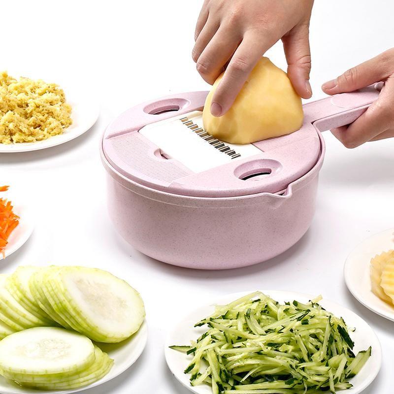 1 Pc/2 pièces 9 en 1 Kit de coupe Spiralizer de légumes déchiqueteuse de cuisine râpe à Julienne polyvalente séparateur blanc d'oeuf avec garde