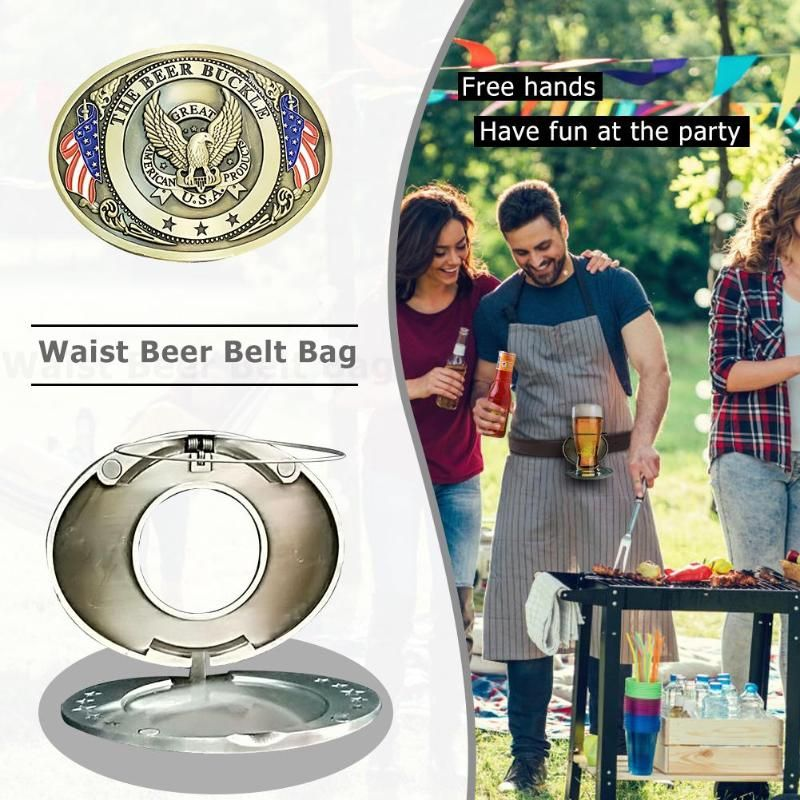 10.2x8cm Outdoor Metal Beer Head Belt Funny Bottle Buckle for Camping Picnic Wine Can Holder 2019 Outdoor Tableware Dropshipping