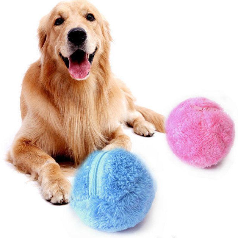 Jouet électrique pour animaux de compagnie balle magique rouleau balle jouet automatique boule magique chien chat jouet pour animaux de compagnie besoin d'utiliser la batterie 5 pièces/ensemble