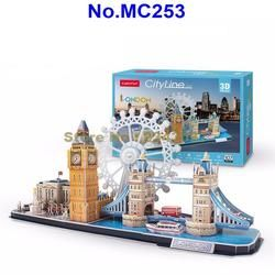 Cubicfun MC253 107 Pcs City Line London DIY 3D Teka-teki Kertas Model