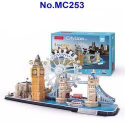 MC253 107 Pcs Kota Line London DIY 3D Teka-teki Kertas Model