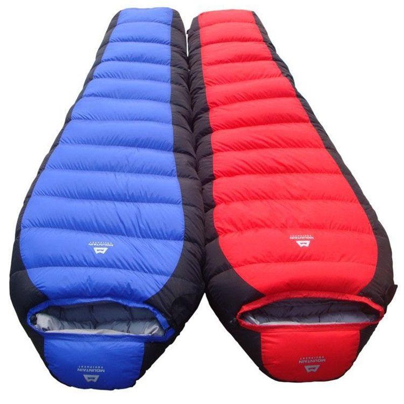 Sac de couchage de Camping ultra-léger sac momie sac de couchage en duvet de canard blanc accessoires de Camping pour adultes