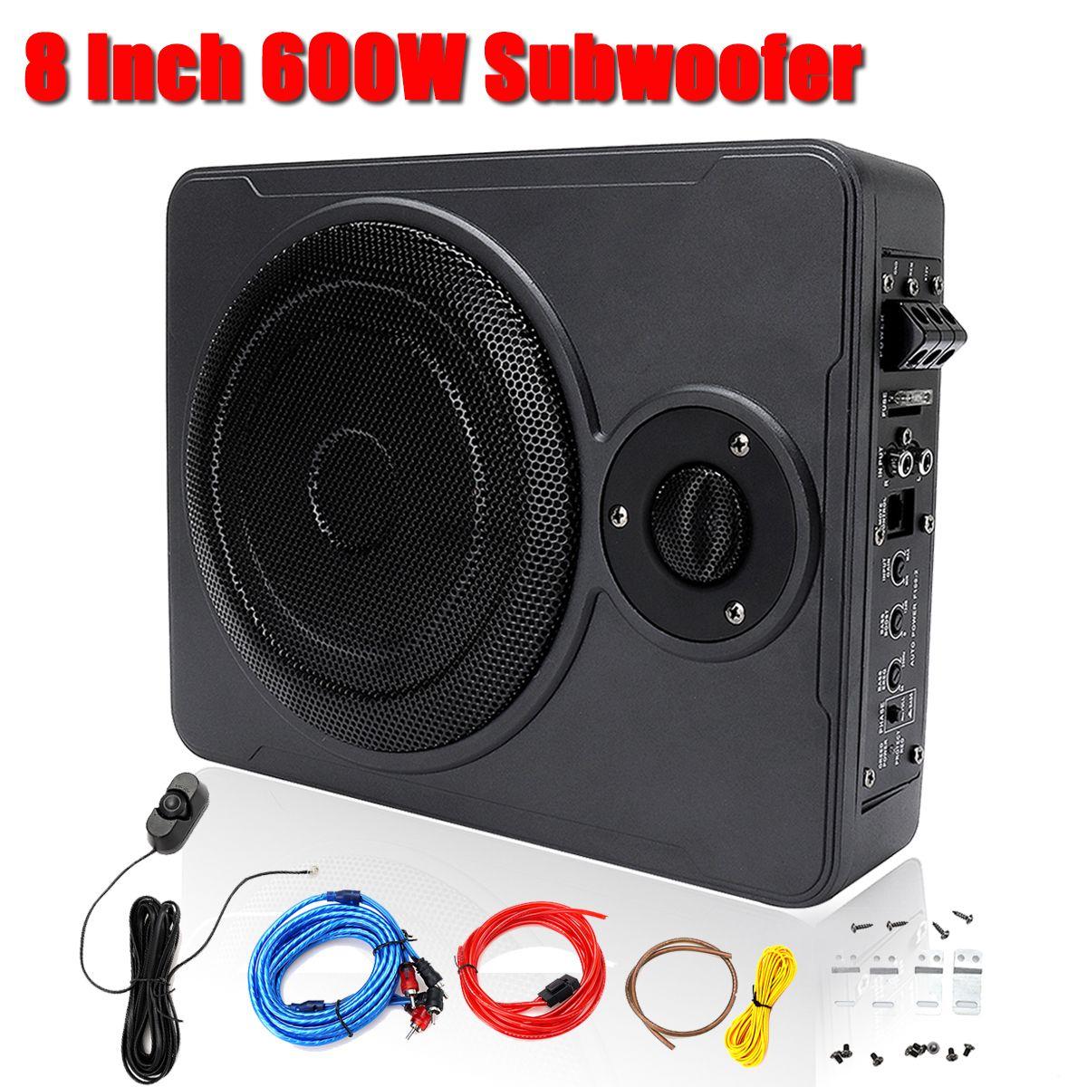 Neue 8 Zoll bluetooth Auto Hause Subwoofer Unter Sitz Unter 600 W Stereo Subwoofer Auto Audio Lautsprecher Musik System Sound woofer