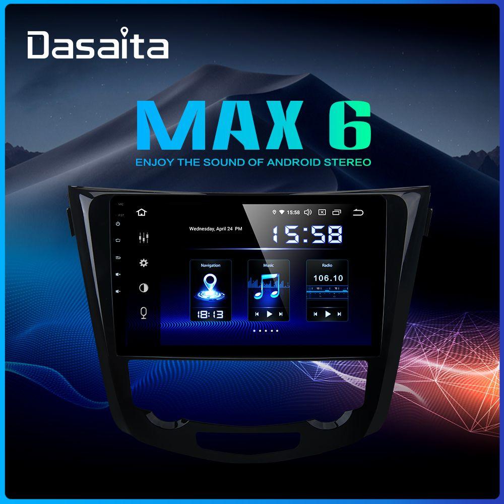 Dasaita Auto Multimedia Android 9.0 für Nissan X-Trail Qashqai j11 j10 Radio 2014 2015 2016 2017 GPS Navigation 10,2 IPS Bildschirm