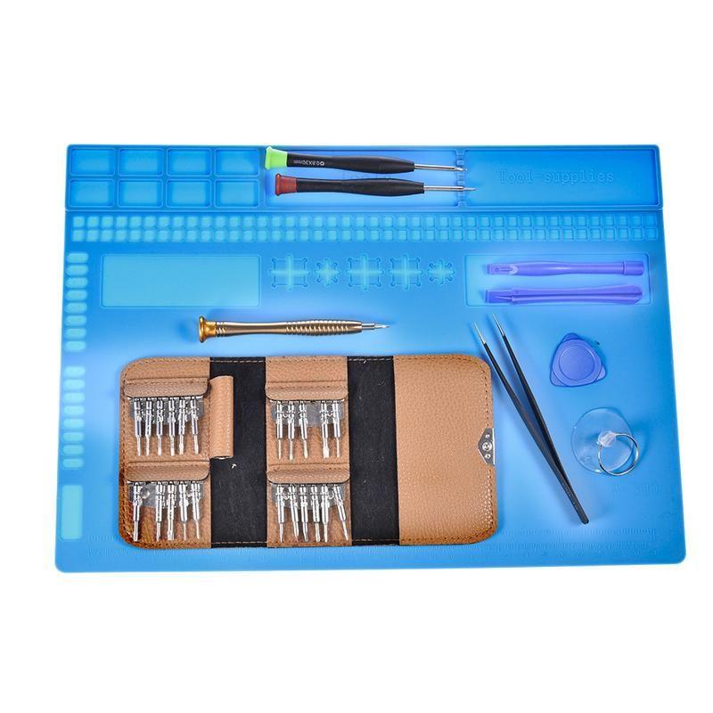 Plate-forme de Maintenance de tapis de bureau de coussin de soudure de Silicone d'isolation résistant à la chaleur pour les outils de Station de réparation de soudure de BGA 34*24 cm