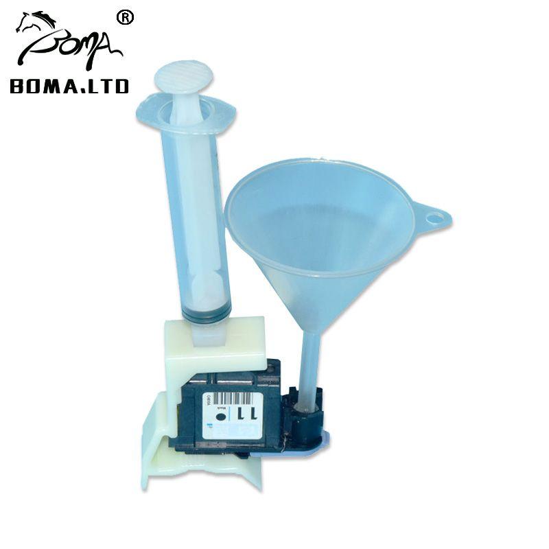 Kit d'unités de nettoyage de tête d'impression pour HP 11 10 82 84 85 outils de nettoyage pour HP 100/110/111/500/510/800/813/850/510/buse de tête d'imprimante
