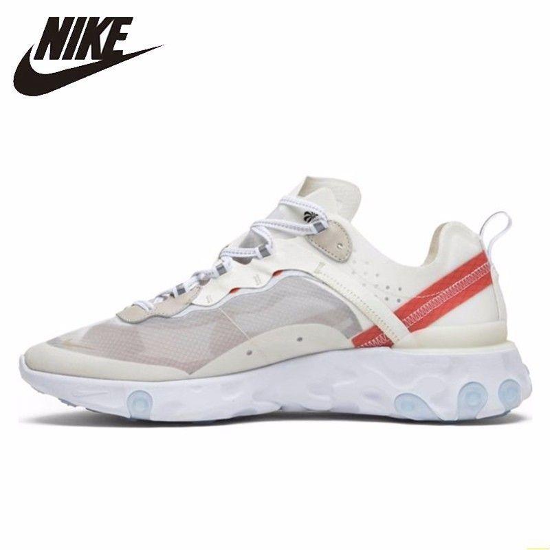 Nike Reagieren Element 87 Männer Laufschuhe Neue Ankunft Weiß Transparent Schuhe Atmungsaktivem Turnschuhe # AQ1090-100