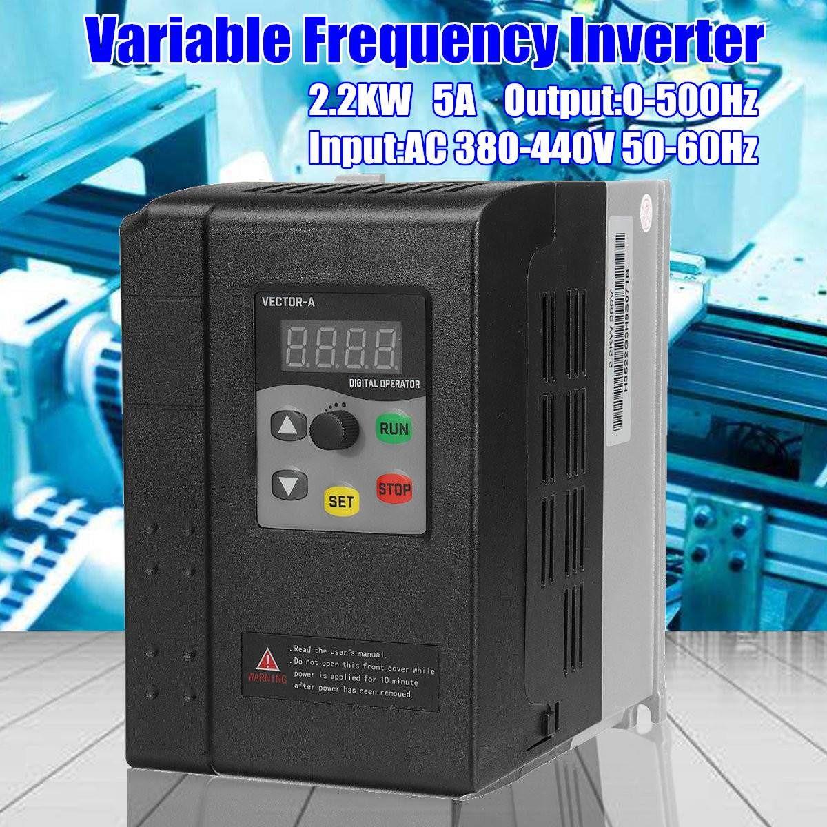 3 Phase 380 V 2.2KW Mini VFD Variable Frequency Inverter für Motor Speed Control Frequenz Konverter