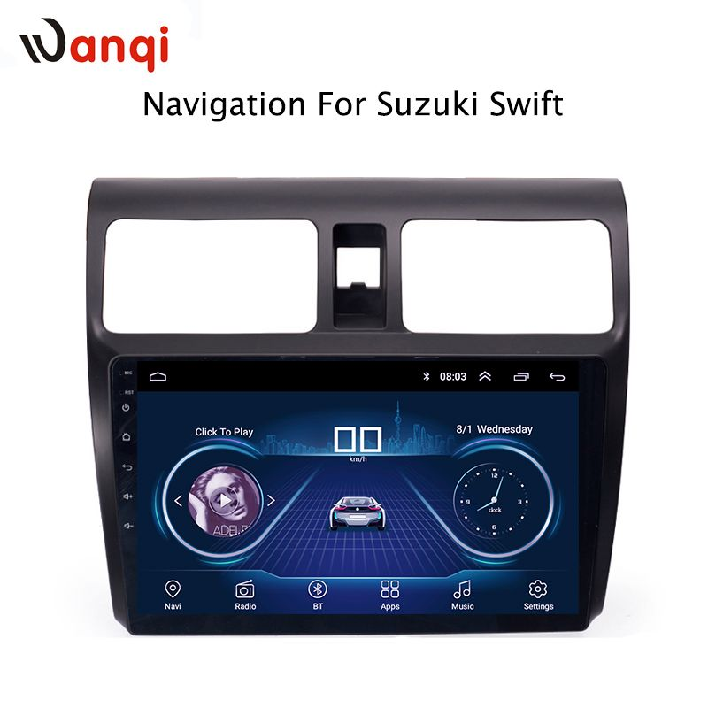 10.1 inch Android 8.1 full touch screen car multimedia system for Suzuki Swift 2004-2010 car gps radio navigation