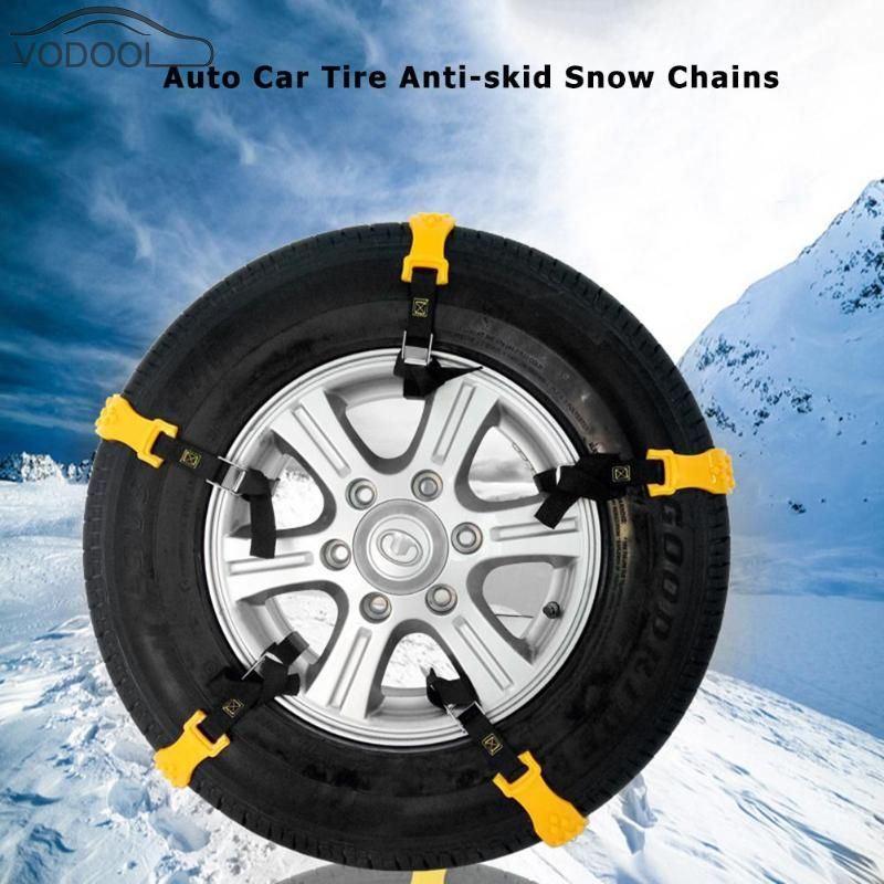10pcs Universal Auto Car Anti-skid Chains Winter Driving Belt Vehicles Wheel Antiskid Non-slipping Ice Snow Sand Mud Tire chain