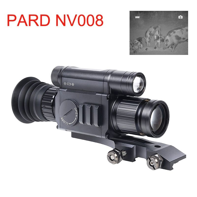 PARD NV008 200M Range Night Riflescope 11-21mm Standard Picatiny Night Vision Sights Optics for Hunting Night Vision APP Wifi