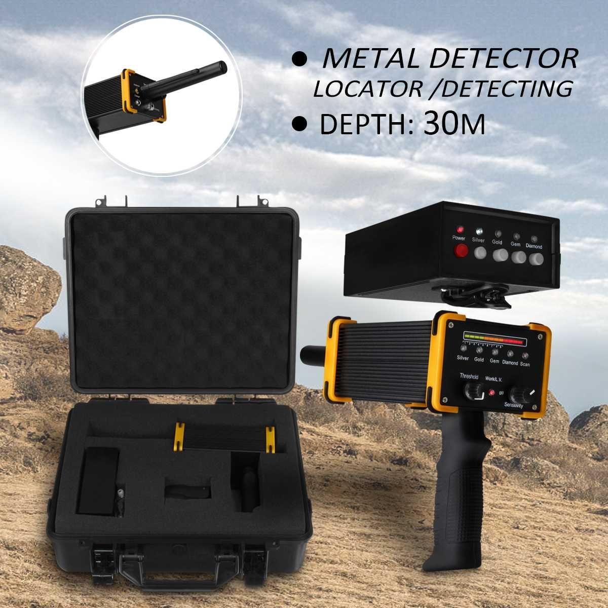 30 mt Tiefe boden Metall Detektor maschine mit Wasserdichte Verpackung Box Gold Diamant Silber metall detektor Ausrüstung