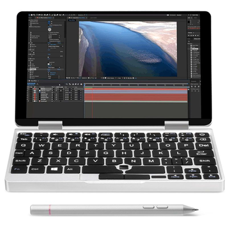 One Netbook Einen Mix 2 S Notebook 7 zoll Windows 10.1 Intel Core M3-8100Y 3,4 GHz 8 GB 256 GB PCIE SSD Dual WiFi Typ-C Micro HDMI
