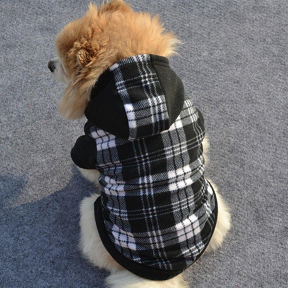 Chaud chien vêtements pour petits chiens doux polaire animaux vêtements carlin Costume Hoodies 14530