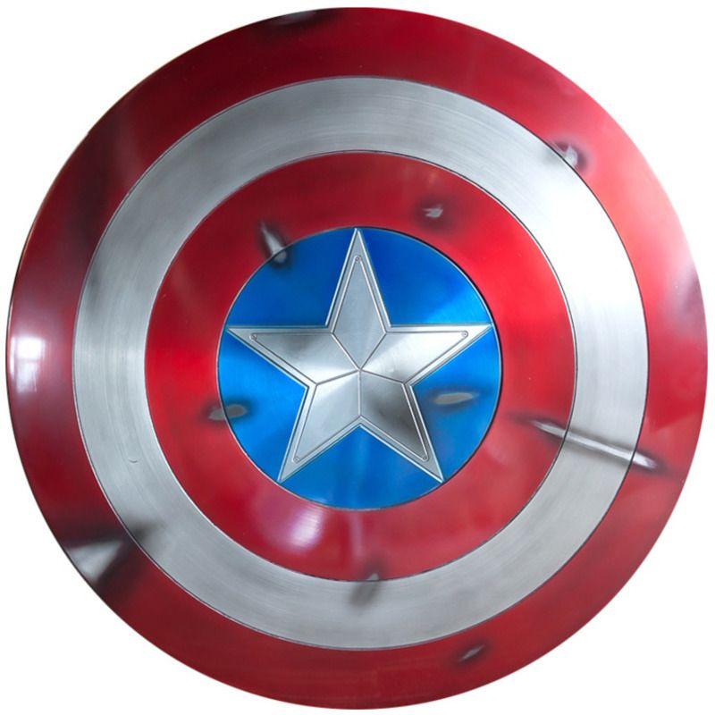 Captain America Schild 1/1 Sh65 Action Figure Movie Peripherie Avengers Neue Version Steve Rogers Aluminium Metall SCHLACHT SCHADEN