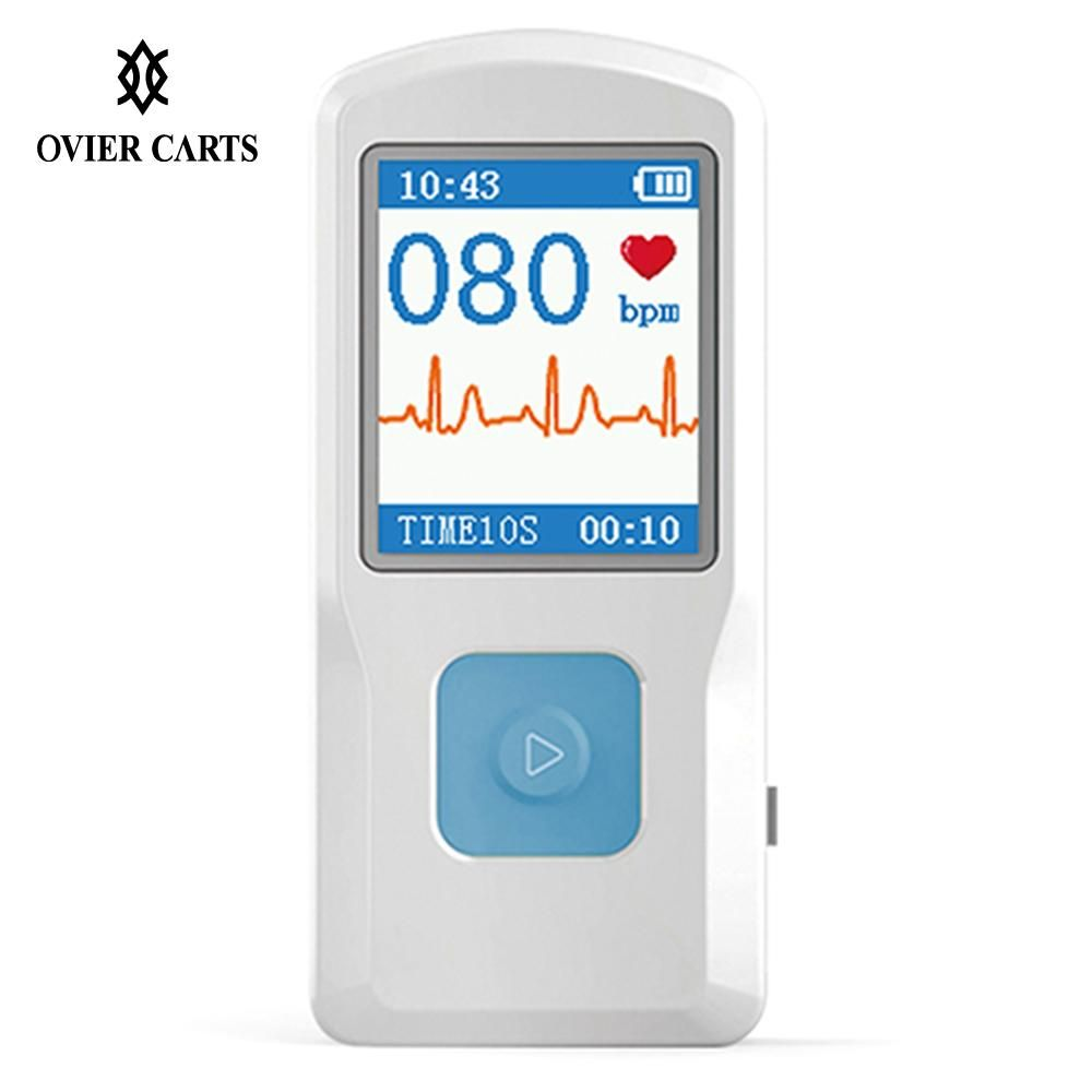 Portable ECG EKG Machine Handheld Color Screen ECG Monitor Heart Machine BT USB Charging PC Software Home Use Health Care