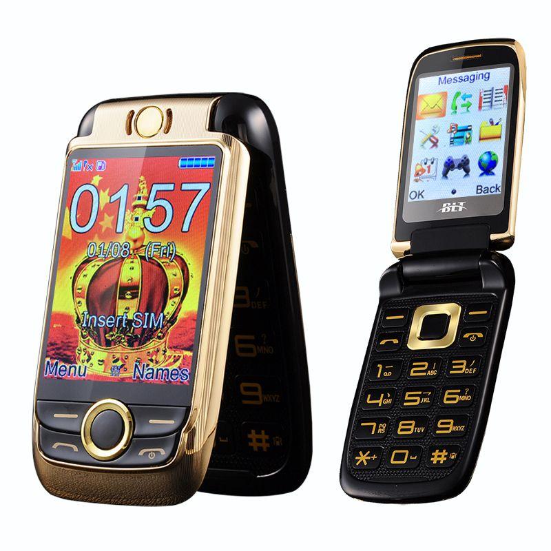 BLT V998 flip Double écran Double deux écrans senior téléphone mobile vibration écran tactile Double SIM magique voix téléphone portable P077