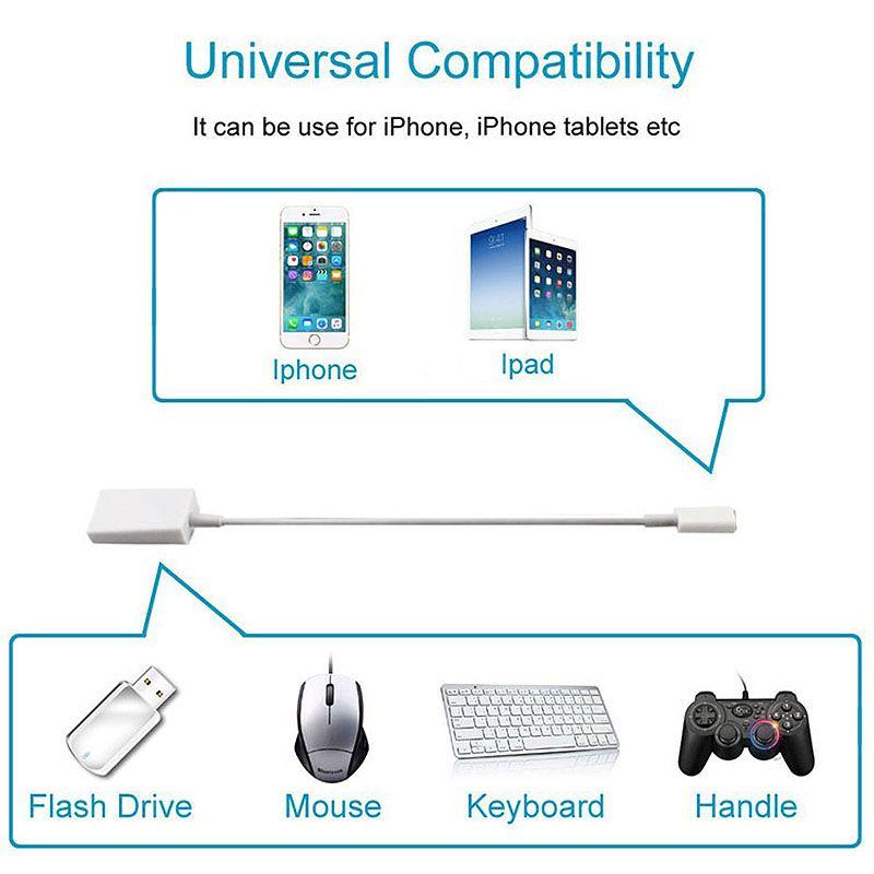 Otg USB Zu Kamera Adapter Für Apple Interface USB Kabel Kopfhörer Konverter Elektrische Klavier Soundkarte Für Iphone 7 8 ios12 Ada