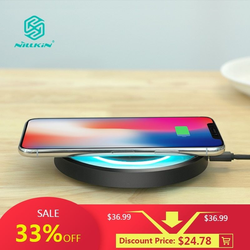 10W Fast Qi Wireless Charger station NILLKIN for iPhone X/XS/XS Max/8/8 Plus for Samsung Note 8/S8+ qi wireless charger portable