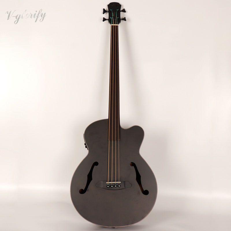 Professionelle fretless elektrische akustische bass gitarre mit turner EQ