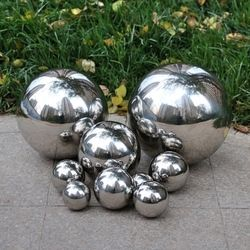 1 PCS 120MM Stainless Steel Hollow Ball Mirror Polished Shiny Sphere For Kinds of Ornament and Decoration