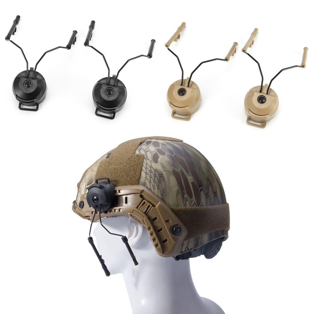 Z-tactical Helm Schienen Adapter Set Für Comtac Headset Military Helm Adapter Peltor Comtac Kopfhörer Helm Schiene Airsoft