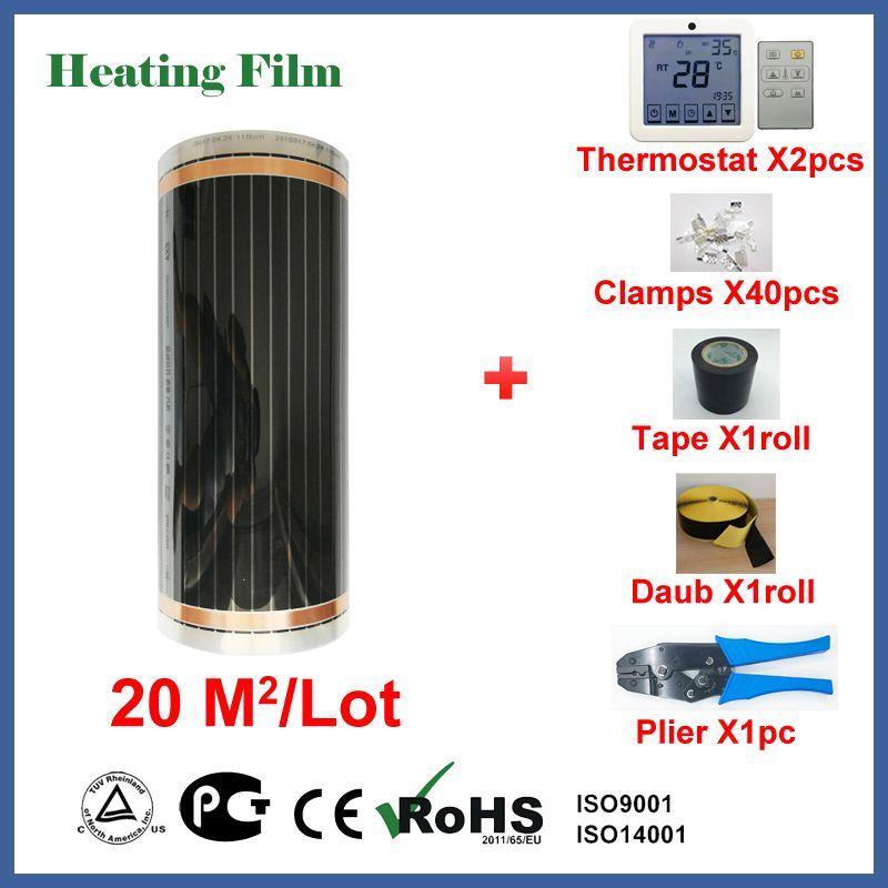 Unter boden heizung film 20 quadratmetern, 220 W/Platz infrarot raumheizung mit großhandel preis