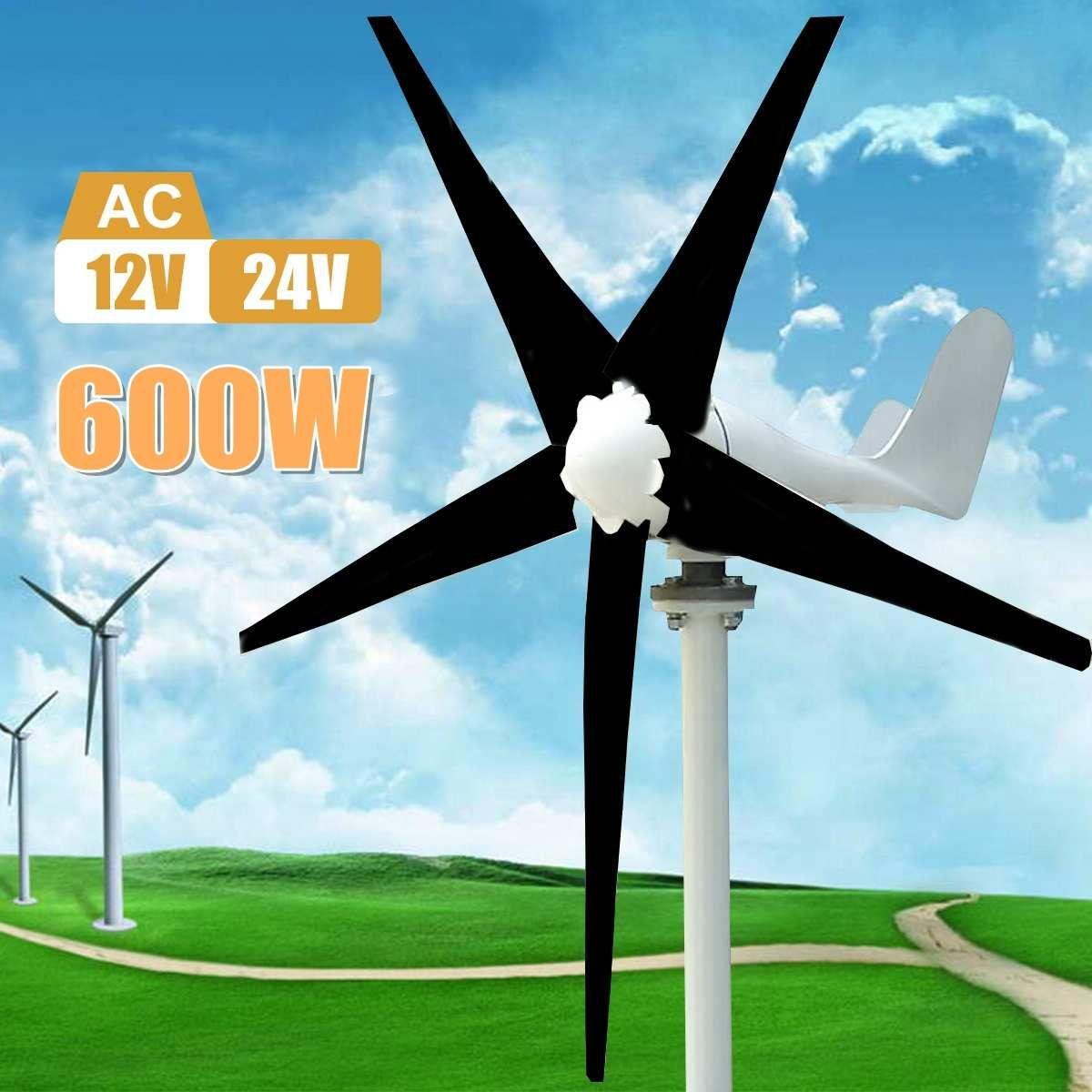 Max 600 W Wind Turbine Generator AC 12 V/24 V 5 Klinge Power Versorgung Generator für Home Hybrid straßenbeleuchtung verwenden Kits