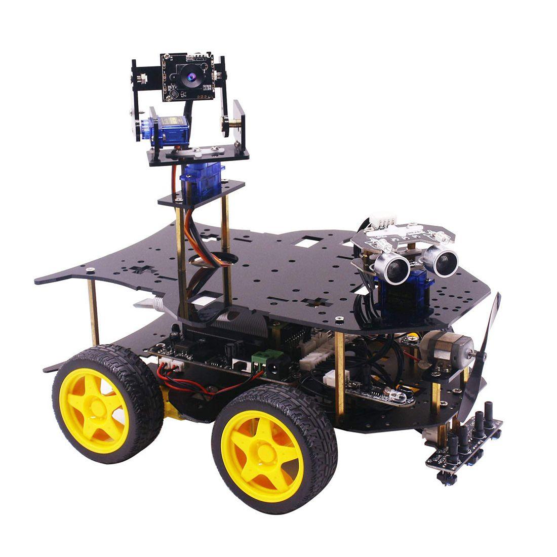 Ultimative Starter Kit für Raspberry Pi 3 B + HD Kamera Programmierbare Smart Roboter Auto Kit Modell Baustein Dampf stem Spielzeug Kit