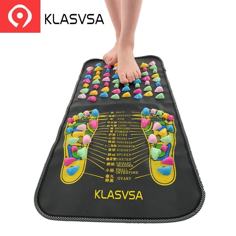 KLASVSA Chinois Réflexologie Marche Pierre de massage de La Douleur Soulager masseur jambes et pieds de Soins de Santé Mat Acupression