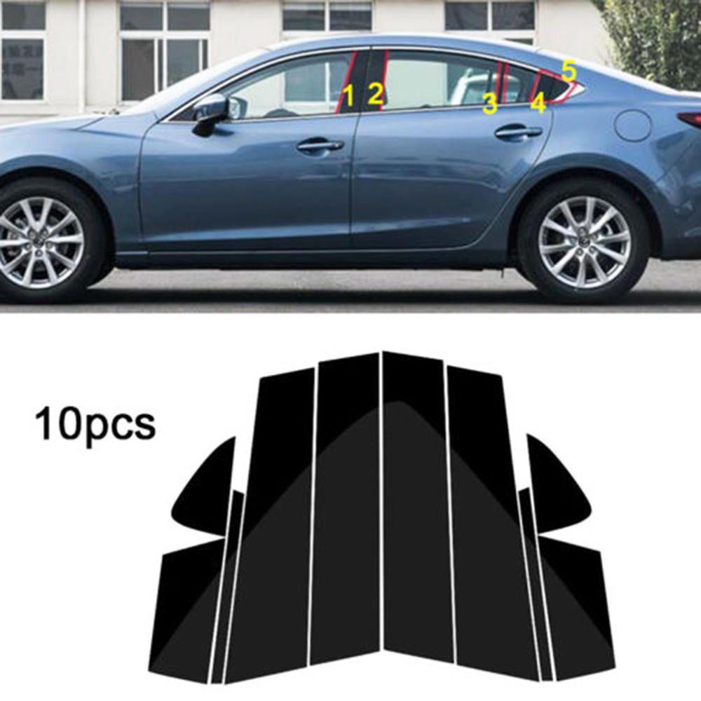 10PC fenêtre pilier poteaux revêtement d'habillage moulage pour Mazda 6 Atenza 2014-2018 moyen BC colonne autocollant pour MAZDA 6 bande