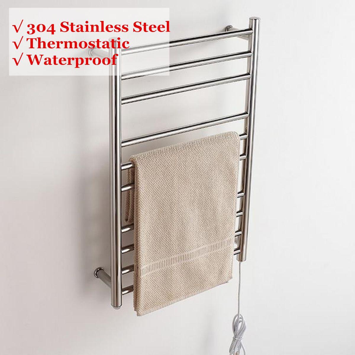 Edelstahl 88 W Elektrische Beheizten Wand Handtuch Wärmer Home Bad Zubehör Handtuch Trockner Racks Erhitzt Handtuch Schiene