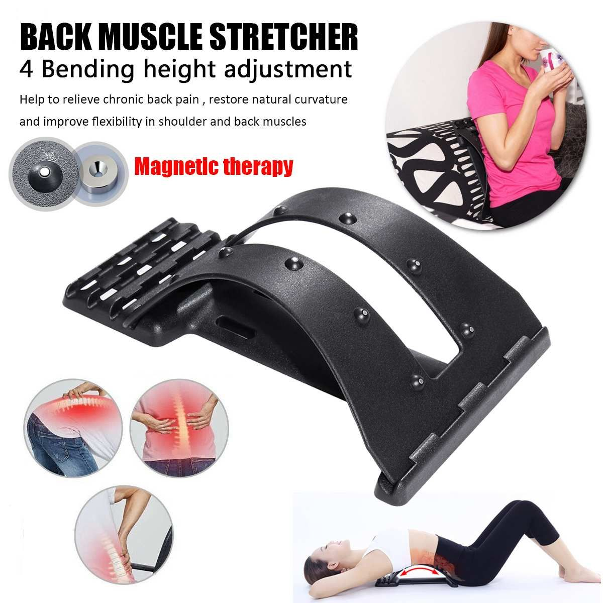 Massage du dos magnétique civière musculaire correcteur de Posture extensible Relax civière soutien lombaire soulagement de la douleur de la colonne vertébrale chiropratique