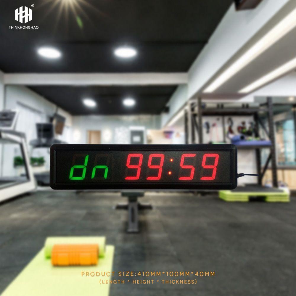 Big size multi-funktion LED gym sport countdown-timer led-anzeige countdown-uhr Tabata ausbildung timer Honghao