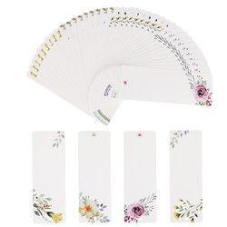 40pcs/lot DIY Creative Retro Flower Bookmark Book Mark Papelaria Message Cards Boekenlegger Bookmarks For Books 01437