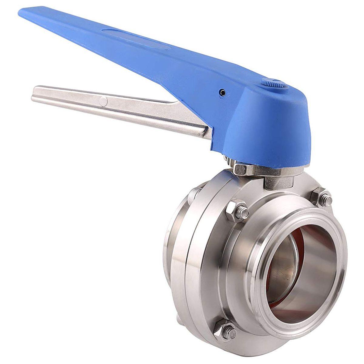 1-1/2 zoll 38mm SS304 Edelstahl Sanitär 1,5 zoll Tri Clamp Schmetterling Ventil Squeeze Trigger für Homebrew milch Produkt