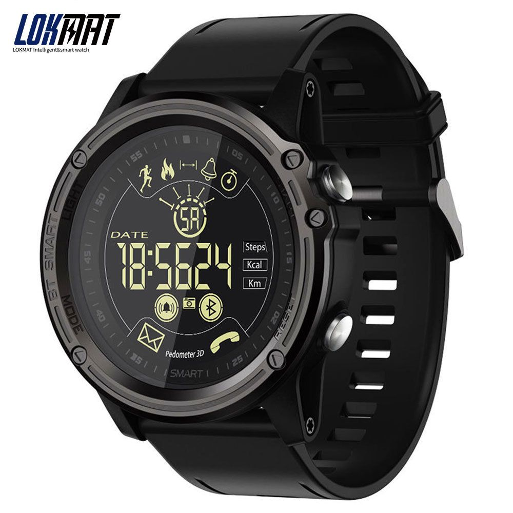 LOKMAT Men's Fashion Smart Watch Sport Pedometer Waterproof Bluetooth Ultra-long Standby Digital Smartwatch For Ios And Android
