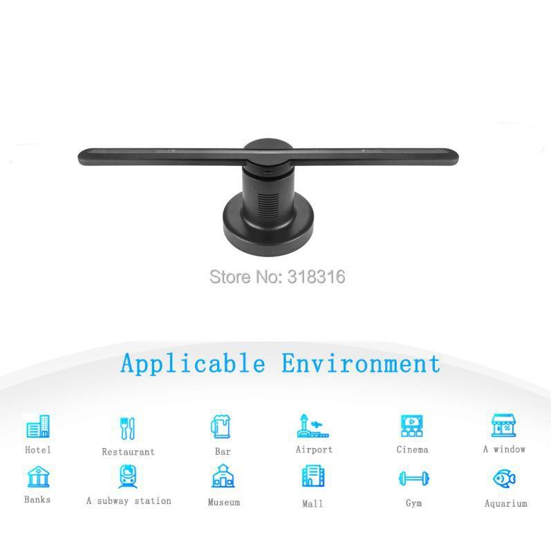 DISPLAMAX Neueste 42 cm SD karte Neue Design Hohe Auflösung Display 3D Hologramm Fan für Werbung
