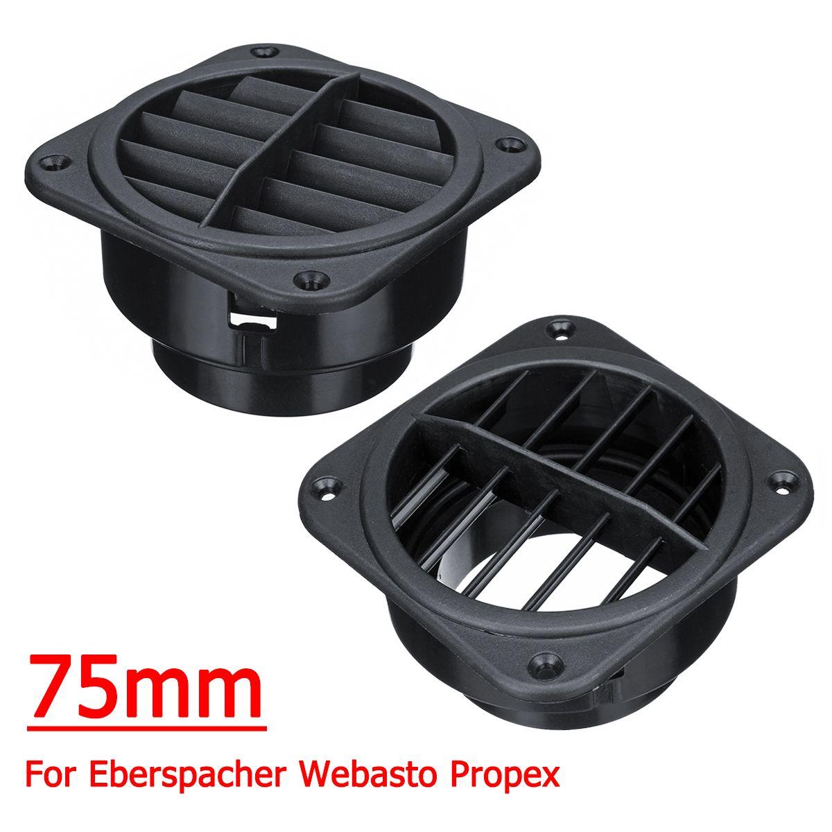 Paar 75mm Auto Warme Air Vent Outlet Heizung Führung für Webasto Propex Eberspacher