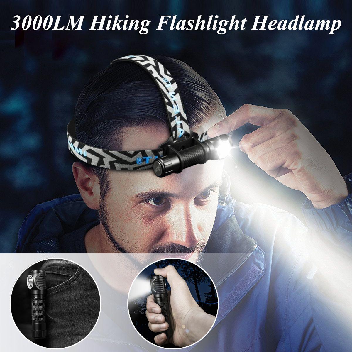 Professional HR70 XHP70.2 3000LM Handheld Flashlight Hiking Light Charge LED Flashlight  Brightness Magnetic USB Charge