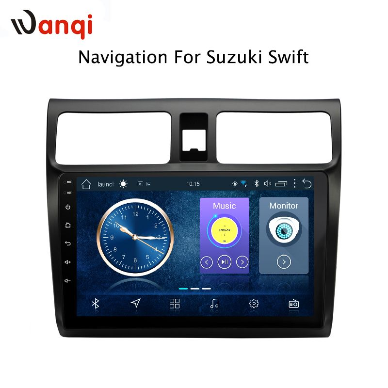 10,1 zoll Android 8.1 volle touchscreen auto multimedia-system für Suzuki Swift 2004-2010 auto gps radio navigation