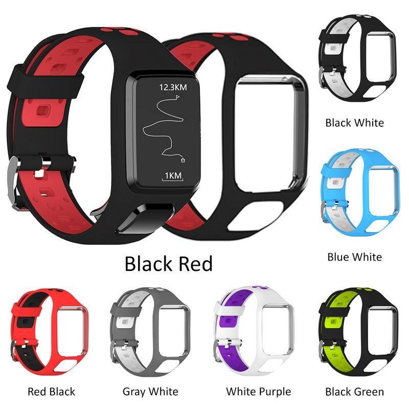 Bracelet de remplacement en Silicone bracelet de poignet pour TomTom 2 3 série Runner 2 3 série Spark golfeur 2 montre GPS aventurier