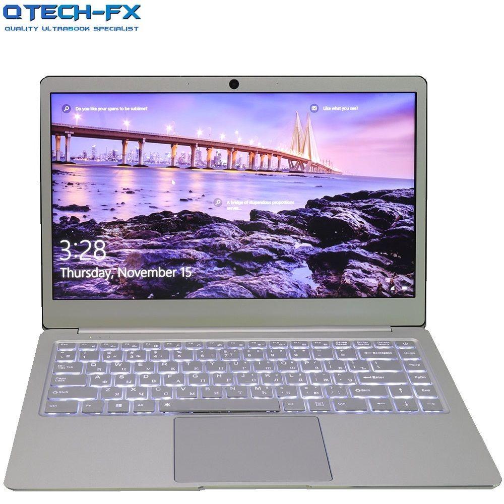 Metal Ultrabook SSD 256GB 64GB 512G CPU Intel Windows10 Student Office Laptop Arabic French Spanish Russian Keyboard Backlit