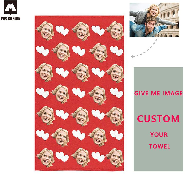 Custom Beach Towel Microfiber Bathroom Quick Dry Chair Blanket Gym Swim Towel Absorbent Personalized Bath Towel Dropshipping