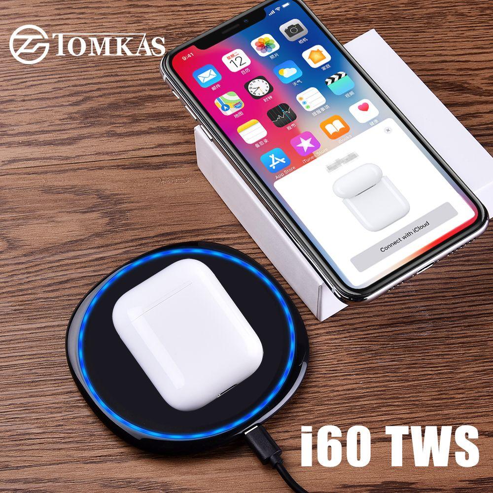 I60 TWS Pop Up 1:1 taille sans fil Bluetooth écouteur utilisation séparée QI sans fil charge basse écouteurs PK i30 i20 i12 i10 TWS