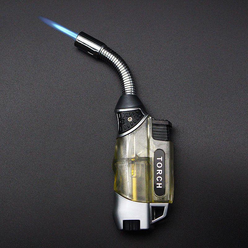 Torche Turbo briquet 2018 nouveau pistolet Jet Butane allume-cigare gaz Cigarette 1300 C coupe-vent briquet pas de gaz