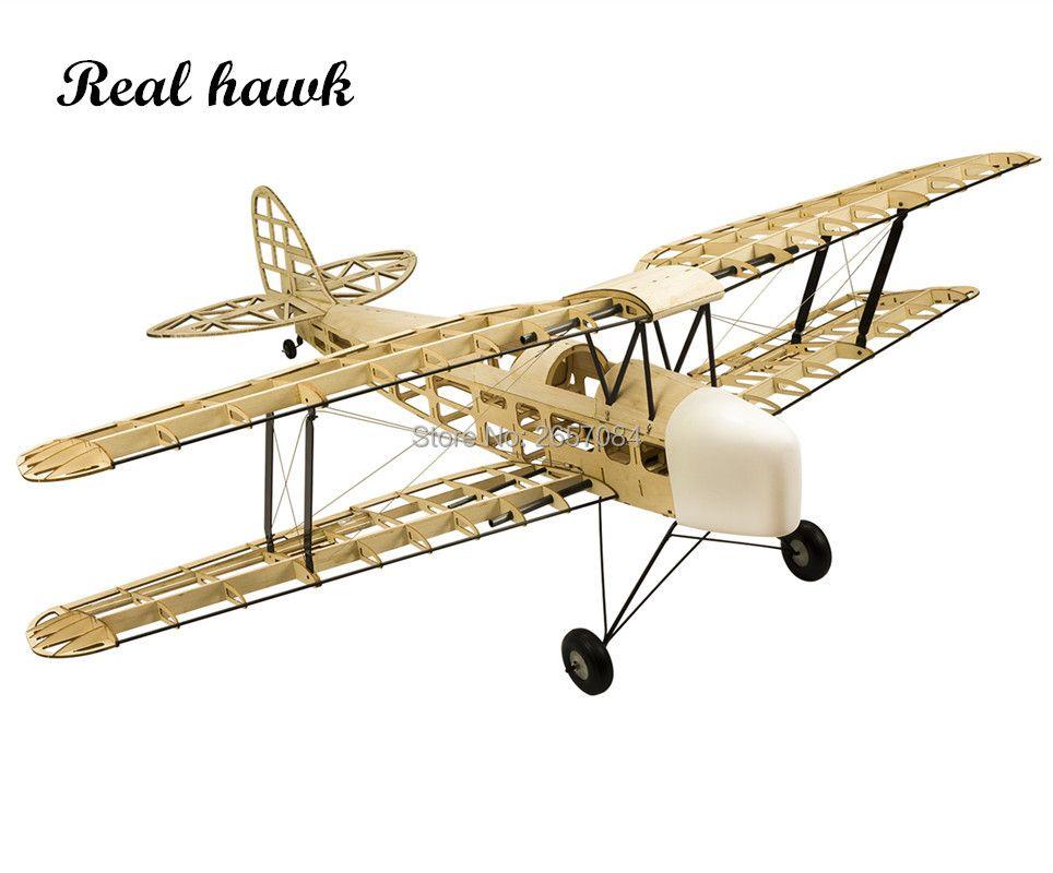RC avion découpé au Laser Balsa bois avion Kit nouveau TigerMoth DH-82 cadre sans couvercle modèle Kit de construction