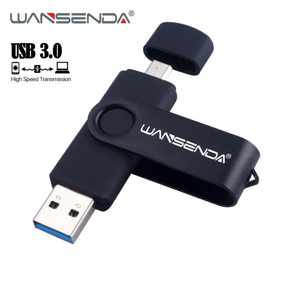 New USB 3.0 OTG Pen Drive High Speed Micro Usb Stick USB Flash Drive 128GB 64GB External Storage Pendrive 32GB 16GB Memory Stick
