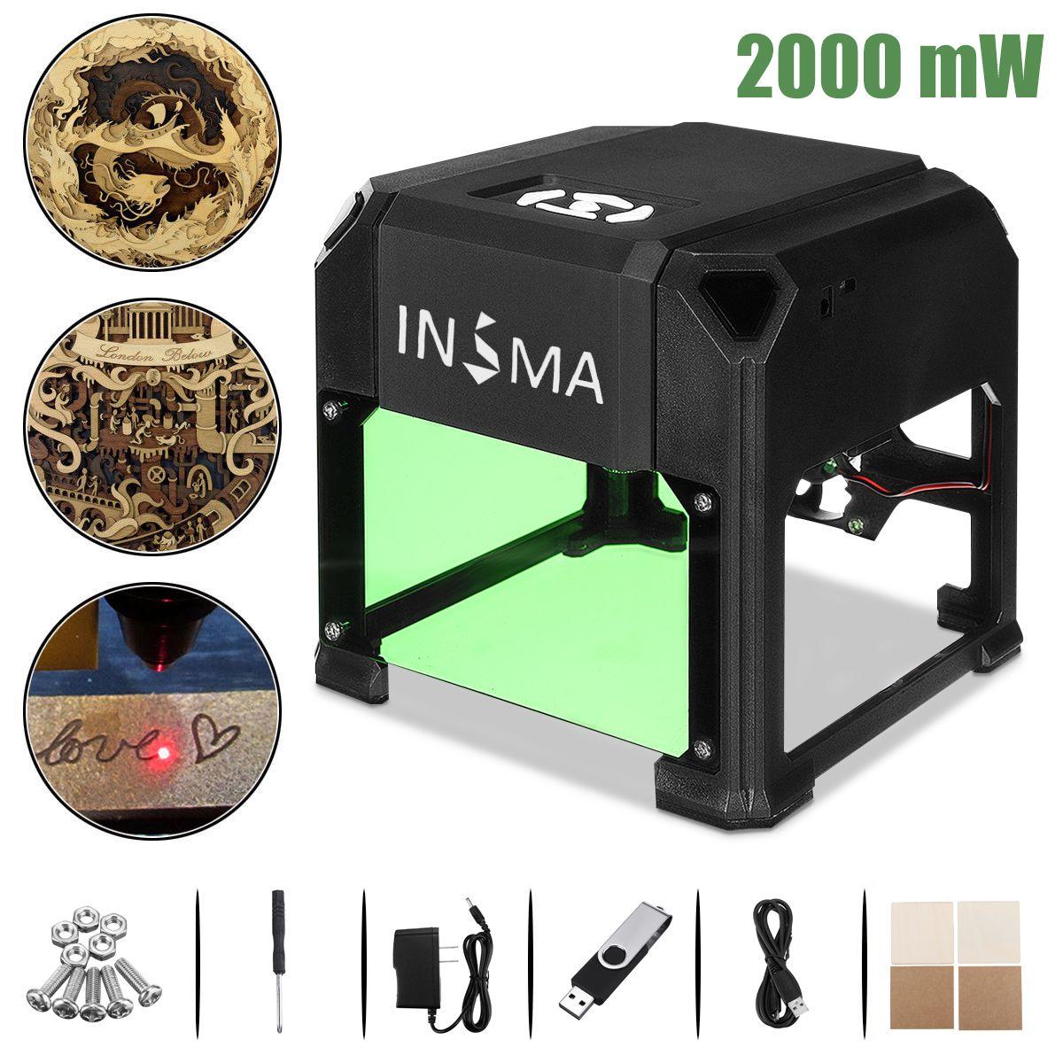 2000/3000 mW CNC Laser Engraver DIY Logo Mark Printer Cutter Laser Engraving Carving Machine For Windows XP/7/8/10 for MAC OS
